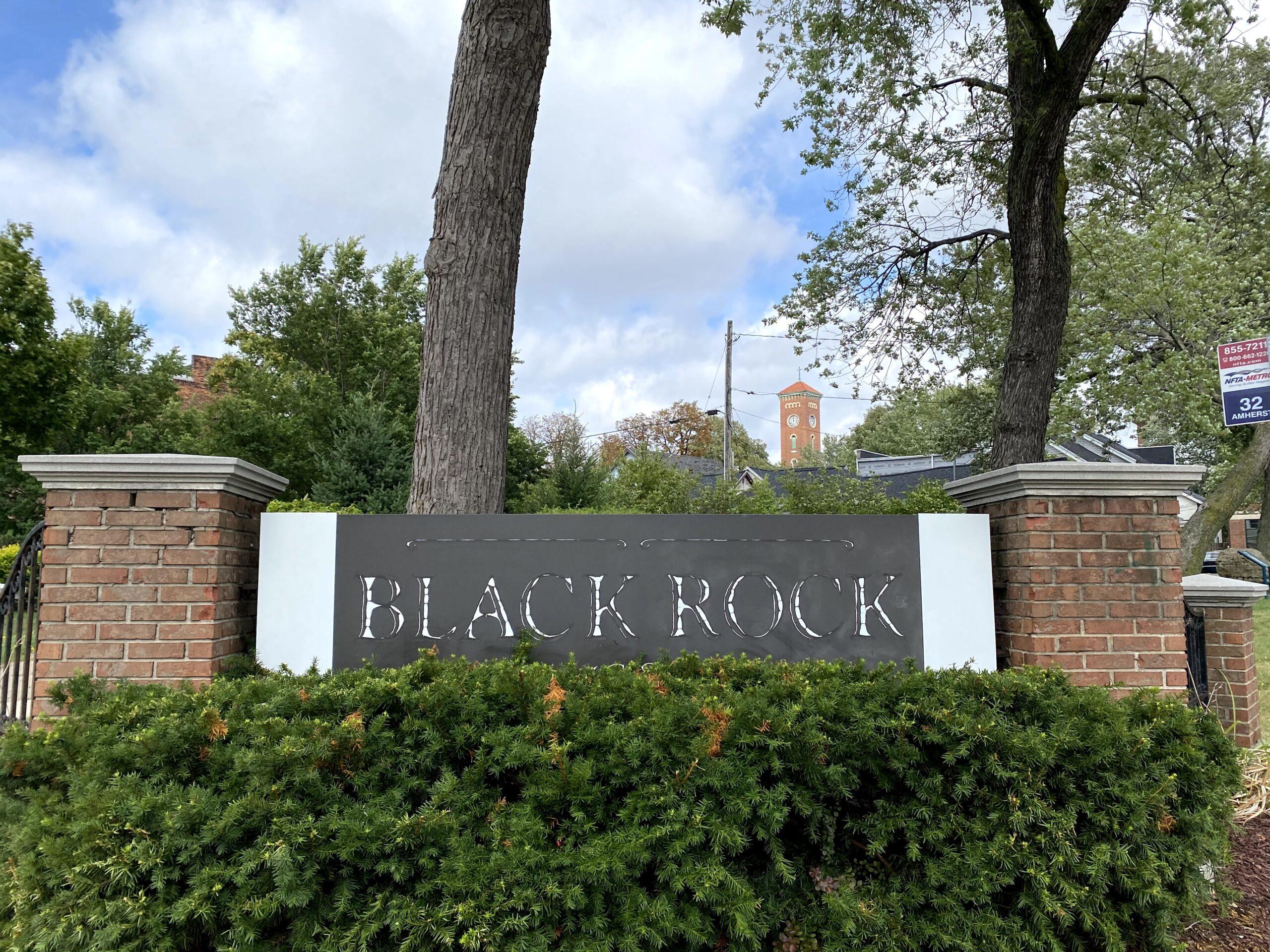image of the Black Rock neighborhood sign