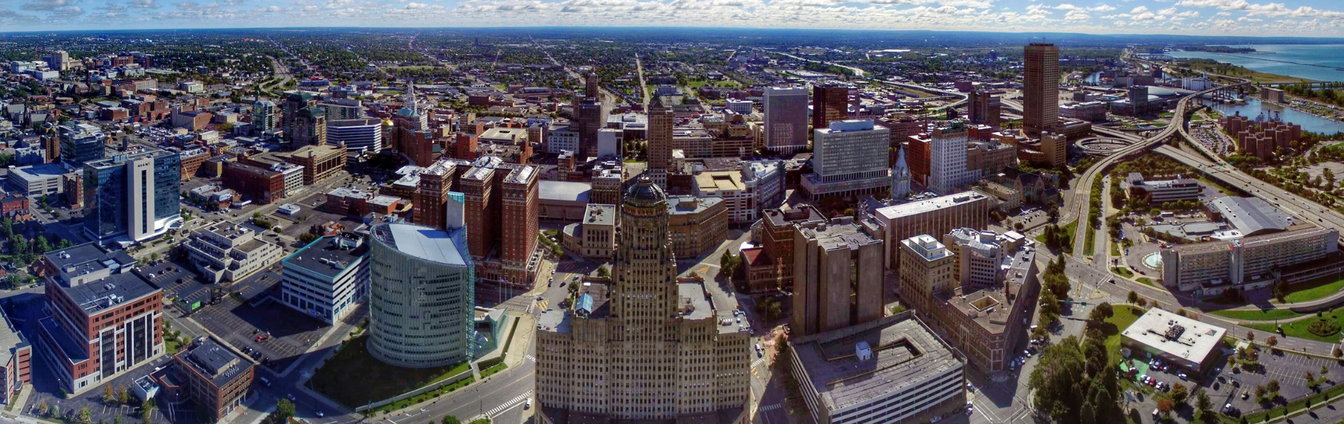 Downtown Buffalo wide image