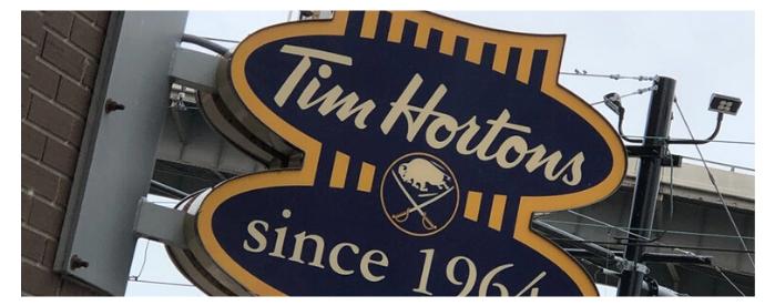 Tim hortons Sabres Sign