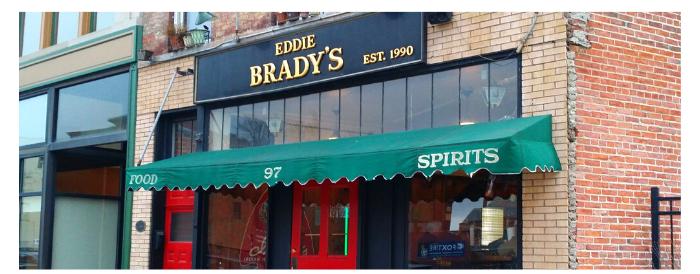Eddy Bradys Entrance Exterior Image