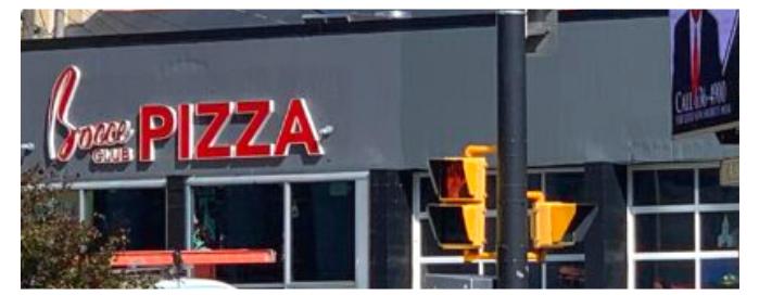 Bocce Club Pizza Sign